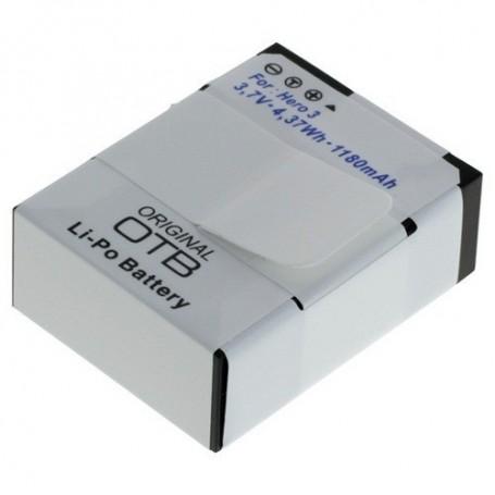 OTB - Battery for GoPro Hero3 / Hero3+ Li-Polymer 1180mAh - GoPro photo-video batteries - ON1172 www.NedRo.us