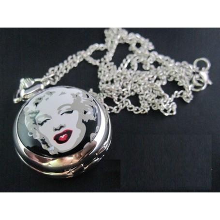 Oem - Marilyn Monroe Pocket Watch Chain Watch ZN012 - Watch actions - ZN012