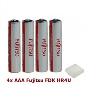 Fujitsu, AAA Fujitsu FDK HR4U Rechargeable Battery 1000mAh - 4 pieces, Size AAA, ON1310-CB, EtronixCenter.com