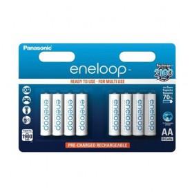 Panasonic, AA HR6 R6 Panasonic Eneloop 1.2V 1900mAh Rechargeable Battery, Size AA, BS150-CB, EtronixCenter.com