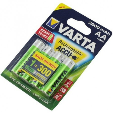 Varta - Varta Rechargeable Battery AA HR6 2600mAh - Size AA - ON1325-CB www.NedRo.us