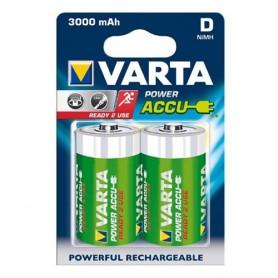 Varta - Varta Rechargable Battery Mono D 3000mAh - Size C D and XL - BS256-CB www.NedRo.us