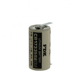 FDK, FDK Battery CR17335SE-T1 Lithium 3V 1800mAh - With Soldering Tag, Other formats, ON1340-CB