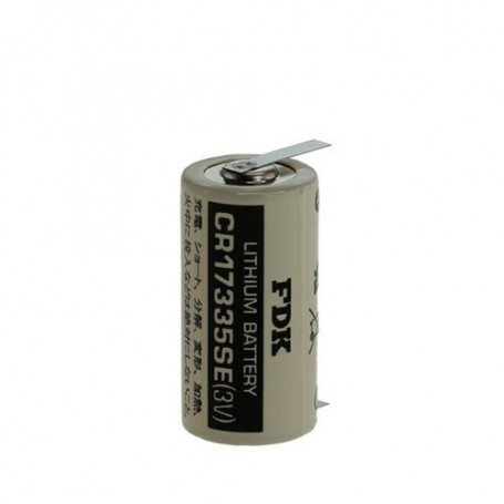 OTB - FDK Battery CR17335SE-T1 Lithium 3V 1800mAh - With Soldering Tag - Other formats - ON1340-CB www.NedRo.us