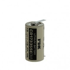 FDK Battery CR17335SE-T1 Lithium 3V 1800mAh - With Soldering Tag