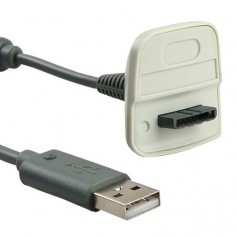 unbranded, 2 in 1 Charging Cable for Xbox 360 Wireless Controller, Xbox 360 cables & batteries, YGX521-CB