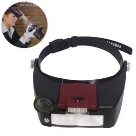 3 Lens 2 LED Headband Magnifier Magnifying Glasses
