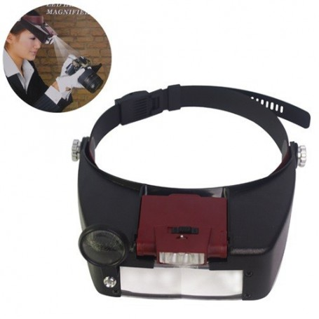 unbranded, 3 Lens 2 LED Headband Magnifier Magnifying Glasses, Magnifiers microscopes, AL052