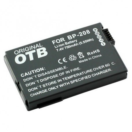 OTB, Battery for Canon BP-208 Li-Ion ON1391, Canon photo-video batteries, ON1391, EtronixCenter.com