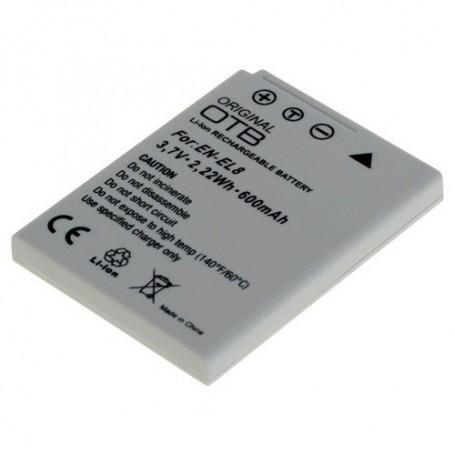 OTB - Battery for Nikon EN-EL8 Li-Ion 600mAh - Nikon photo-video batteries - ON1417 www.NedRo.us