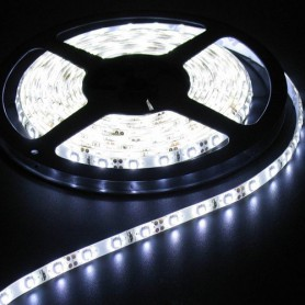 NedRo, 5M Cold White 60LED/M IP65 White PCB SMD3528 AL044, LED Strips, AL044