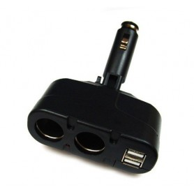 OTB - Duo Cigarette Lighter Adapter Distributor +2x USB 3A - Auto charger - ON1750 www.NedRo.us