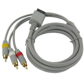 NedRo, Wii AV cable with 3 RCA plugs, Nintendo Wii, YGN598, EtronixCenter.com