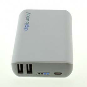 digibuddy - 6600mAh PowerBank Power Station DB-6610 Li-Ion White - Powerbanks - ON1578