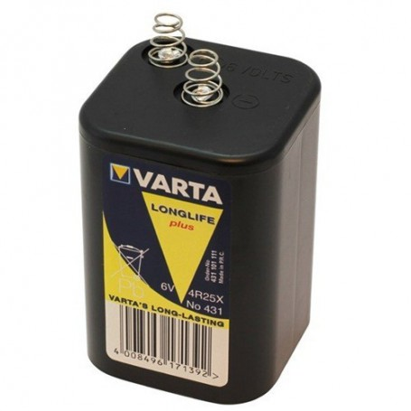 Varta - Varta Batterie 431 / 4R25X 6V block battery - Size C D 4.5V XL - ON1687
