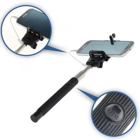 OTB - 100cm Selfie stick monopod with wired trigger button - Other telephone holders - ON1710