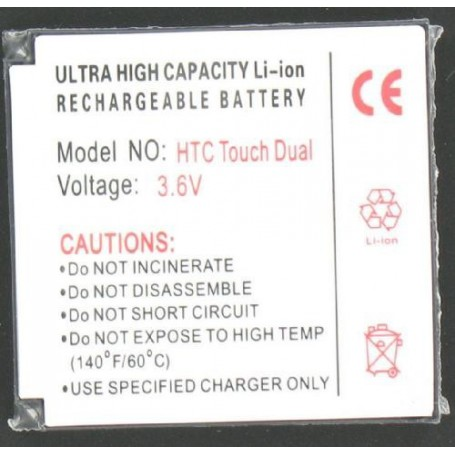 NedRo - Battery For The HTC Touch Dual Li-Ion Slim P024 - HTC phone batteries - P024 www.NedRo.us