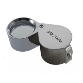 NedRo, 30x-zoom Silver Mini Jewelry Loupe Magnifier Glass, Magnifiers microscopes, AL073, EtronixCenter.com