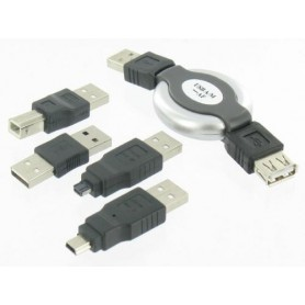Unbranded, 5-piece Kit for Notebook USB PC Camera PDA MP3 Mobile, USB adapters, YPU003, EtronixCenter.com