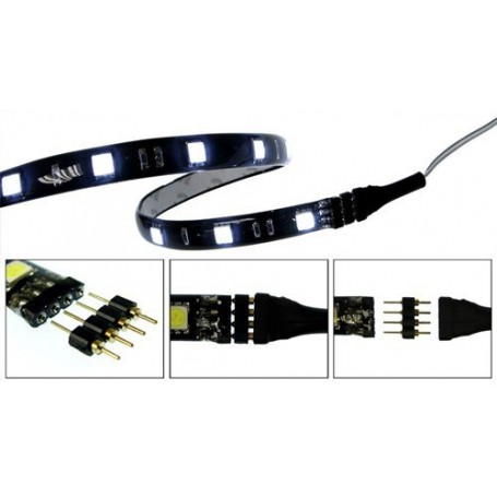 10x 4pin M-M 5050 RGB LED Strip Connector Solderless for LED connec