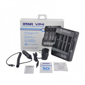 XTAR, XTAR VP4 IMR Lithium battery charger EU PLug, Battery chargers, NK023