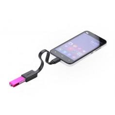 Micro-USB Male USB 2.0 Female OTG Flat Cable Adapter
