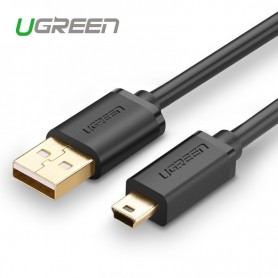 UGREEN, USB 2.0 A Male To Mini-USB 5 Pin Male cable Gold-plated, USB to Mini USB cables, UG116-CB, EtronixCenter.com