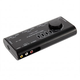 NedRo, 4 Way Out AV RCA Switch Box AV Audio Video, Audio adapters, AL521, EtronixCenter.com