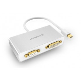 UGREEN, 3in1 Mini DisplayPort DP to HDMI/VGA/DVI converter, HDMI adapters, UG151-CB, EtronixCenter.com