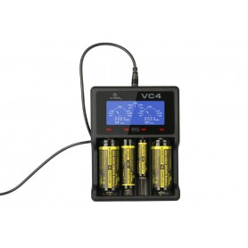 XTAR VC4 Ni-MH and Li-ion USB battery charger EU Plug