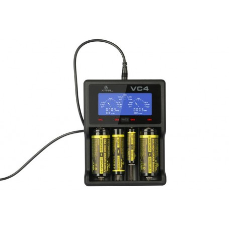 XTAR - XTAR VC4 Ni-MH and Li-ion USB battery charger EU Plug - Battery chargers - NK024