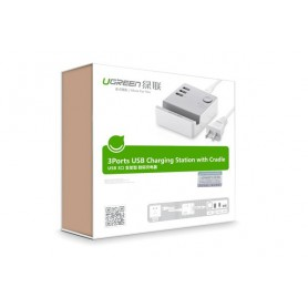 UGREEN - 3 Port USB Charging Station With Cradle IQ Tech - Ports and hubs - UG198-CB www.NedRo.us