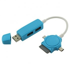 NedRo - Dual USB Hub with Micro USB Mini USB Dock - Ports and hubs - ON086-CB www.NedRo.us