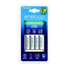 Panasonic - 7h Panasonic eneloop Charging Station EU +4AA batteries BQ-CC17 - Battery chargers - NK012