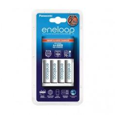 1.5h Panasonic BQ-CC55E Quick Charger +4AA batteries EU plug
