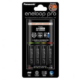 Panasonic, 2h Eneloop PRO BQ-CC55E Charger + 4AA batteries EU-Plug, Battery chargers, NK008