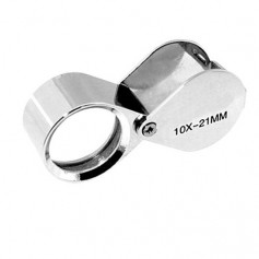 NedRo - 10x-Zoom 21mm Mini Jewelry Loupe Magnifier Glass - Magnifiers microscopes - AL100