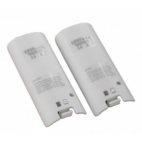 NedRo - Dual Charger Station Dock + 2 2800mAh Battery for Wii - Nintendo Wii - YGN542-CB