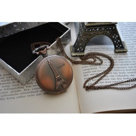 Oem - Paris Eiffel Tower Necklace Watch Pocket Watch ZN060 - Watch actions - ZN060