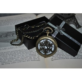 Unbranded - Ice Hollow Vintage Bronze Quartz Pocket Watch - Watch actions - ZN061 www.NedRo.us