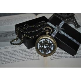 Oem - Ice Hollow Vintage Bronze Quartz Pocket Watch - Watch actions - ZN061