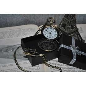 Unbranded, Ice Hollow Vintage Bronze Quartz Pocket Watch, Watch actions, ZN061