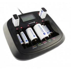 EverActive - AA AAA C D 9V Professional 8 channel charger - Battery chargers - BL218