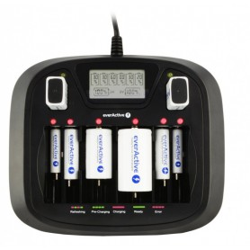 EverActive, AA AAA C D 9V Professional 8 channel charger, Battery chargers, BL218