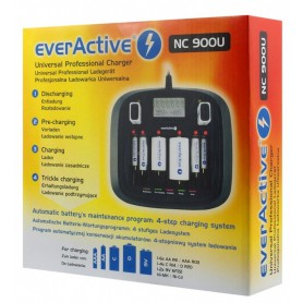 EverActive - AA AAA C D 9V Professional 8 channel charger - Battery chargers - BL218 www.NedRo.us