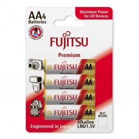 Fujitsu - 4-Pack Fujitsu Premium Alkaline LR6 AA - Size AA - BL220