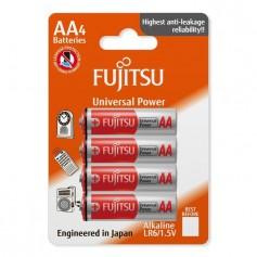 Fujitsu, 4-Pack Fujitsu Universal Power Alkaline LR6 AA, Size AA, BL221