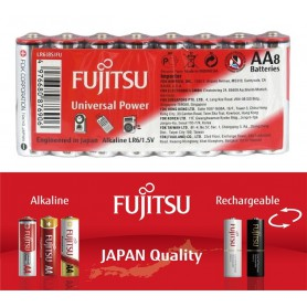 Fujitsu - Fujitsu Universal Power Alkaline LR6 AA - Size AA - BL222-CB