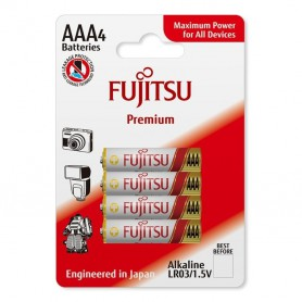 Fujitsu, 4-Pack Fujitsu Premium Alkaline LR6 AA, Size AAA, BL223