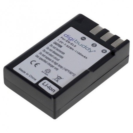 digibuddy - Battery for Nikon EN-EL9 Li-Ion 1100mAh - Nikon photo-video batteries - ON1592
